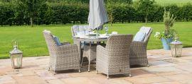 Maze Rattan - Oxford - Venice 4 Seat Round Dining Set