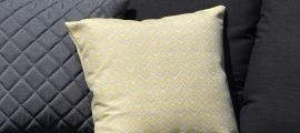 Maze Lounge - Pair of Outdoor Scatter Cushion - Polines Yellow