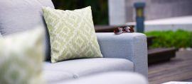 Maze Lounge - Outdoor Fabric Ethos Corner Group - Lead Chine