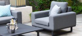 Maze Lounge - Outdoor Fabric Ethos 2 Seat Sofa Set - Flanelle