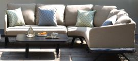 Maze Lounge - Outdoor Fabric Cove Corner Sofa Group - Taupe