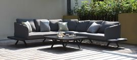 Maze Lounge - Outdoor Fabric Cove Corner Sofa Group - Flanelle