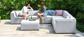 Maze Lounge - Outdoor Fabric Large Apollo Corner Sofa Group - Lead Chine