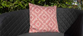 Maze - Pair of Outdoor Scatter Cushion - Santorini Red