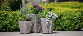 Maze Rattan - Cotswold Shaped Planter Set