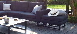 Maze Lounge - Outdoor Fabric Ethos Footstool - Charcoal
