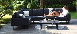 Maze Lounge - Outdoor Fabric Ethos Large Corner Group - Charcoal