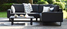 Maze Lounge - Outdoor Fabric Ethos Corner Group - Charcoal