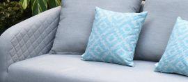 Maze - Pair of Outdoor Scatter Cushion - Santorini Blue