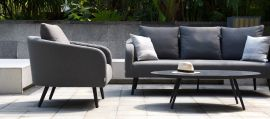 Maze Lounge - Outdoor Fabric Ambition 3 Seat Sofa Set - Flanelle