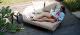 Maze Lounge - Outdoor Fabric Ark Daybed - Taupe