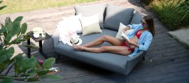 Maze Lounge - Outdoor Fabric Ark Daybed - Flanelle