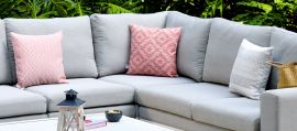 Maze Lounge - Pair of Outdoor Scatter Cushion - Polines Red