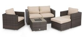 Maze Rattan - Georgia 2 Seat Sofa Set - With Ice Bucket - Brown