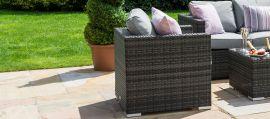 Maze Rattan - Georgia 2 Seat Sofa Set - With Ice Bucket - Grey