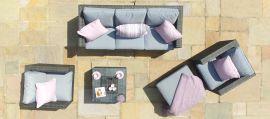 Maze Rattan - Georgia 3 Seat Sofa Set - With Ice Bucket - Grey
