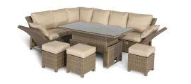 Maze Rattan - Henley Corner Dining Set - With Rising Table - Tuscany