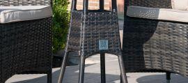 Maze Rattan - LA 2 Seat Bistro Set - Brown