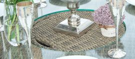 Maze Rattan - Winchester - Venice 6 Seat Oval Dining Set - With Ice Bucket & Lazy Susan