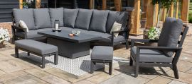 Maze - Manhattan Reclining Corner Dining Set - With Rising Table & Armchair