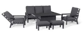 Maze - Manhattan Reclining 3 Seat Sofa Set with Rising Table & Footstools