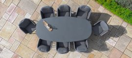 Maze - Marina 8 Seat Oval Dining Table