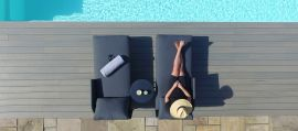 Maze - Marina Double Sunlounger Set