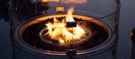 Maze Lounge - Rectangular Gas Fire Pit - Pebble White