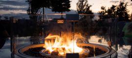 Maze Lounge - Square Gas Fire Pit - Pebble White