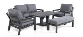 Maze - New York 2 Seat Sofa Set - With Rising Table