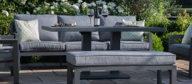 Maze - New York 3 Seat Sofa Set - With Rising Table
