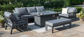 Maze - New York 3 Seat Sofa Set - With Firepit Table