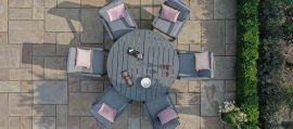 Maze - New York 6 Seat Round Dining Set