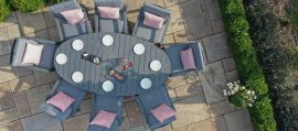 Maze - New York 8 Seat Oval Dining Set