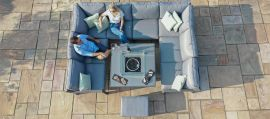 Maze - New York U-Shaped Corner Sofa Set - With Firepit