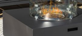 Maze - Oslo Corner Group with Rectangular Gas Firepit Coffee Table