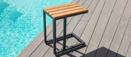 Maze - Oslo Teak U Shaped Side Table