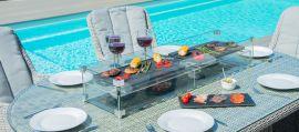 Maze Rattan - Oxford - Venice 6 Seat Oval Fire pit Dining Set