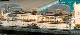 Maze Rattan - Oxford - Heritage 6 Oval Fire pit Dining Set