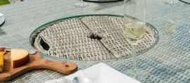 Maze Rattan - Oxford - Heritage 8 Seat Oval Dining Set - With Lazy Susan & Ice Bucket