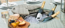 Maze Rattan - Oxford - Venice 8 Seat Round Dining Set - With Ice Bucket & Lazy Susan