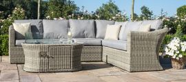 Maze Rattan - Oxford Large Corner Sofa - With Fire Pit
