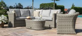 Maze Rattan - Oxford Small Corner Group - With Additional Armchair