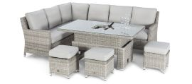 Maze Rattan - Oxford Corner Dining Set - With Ice Bucket & Rising Table