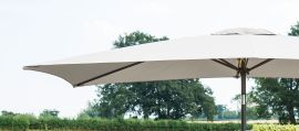 Maze Rattan - 3m x 2m Rectangular Parasol - Grey
