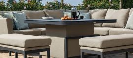 Maze Lounge - Pulse Deluxe Square Corner Dining Set - With Rising Table - Taupe