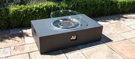 Maze Lounge - Rectangular Gas Fire Pit - Charcoal