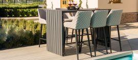 Maze Lounge - Outdoor Fabric Regal 6 Seat Rectangular Bar Set - Taupe