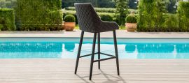 Maze Lounge - Outdoor Fabric Regal Bar Stool - Charcoal Grey