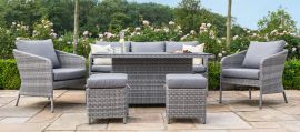 Maze Rattan - Santorini Sofa Dining Set - With Rising Table